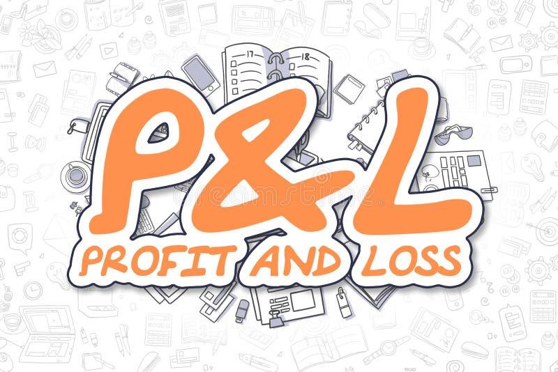 Pandl - Cartoon Orange Word. Business Concept. royalty free illustration