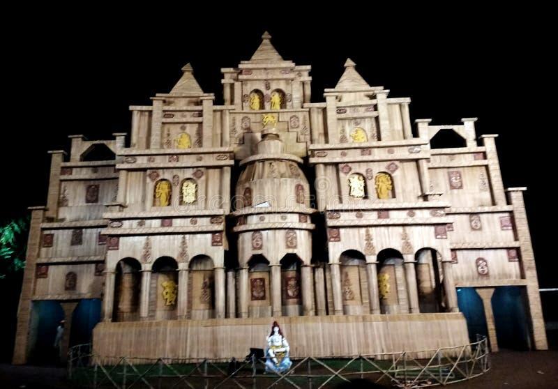 Pandle do puja de Durga foto de stock