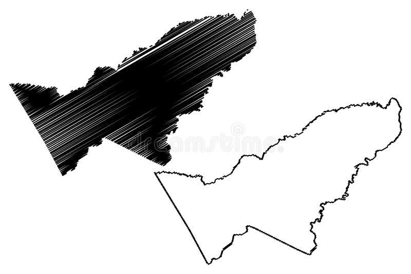 Pando-Abteilungs-multinationaler Staat von Bolivien, Abteilungen der Bolivien-Kartenvektorillustration, Gekritzelskizze Pando-Kar lizenzfreie abbildung