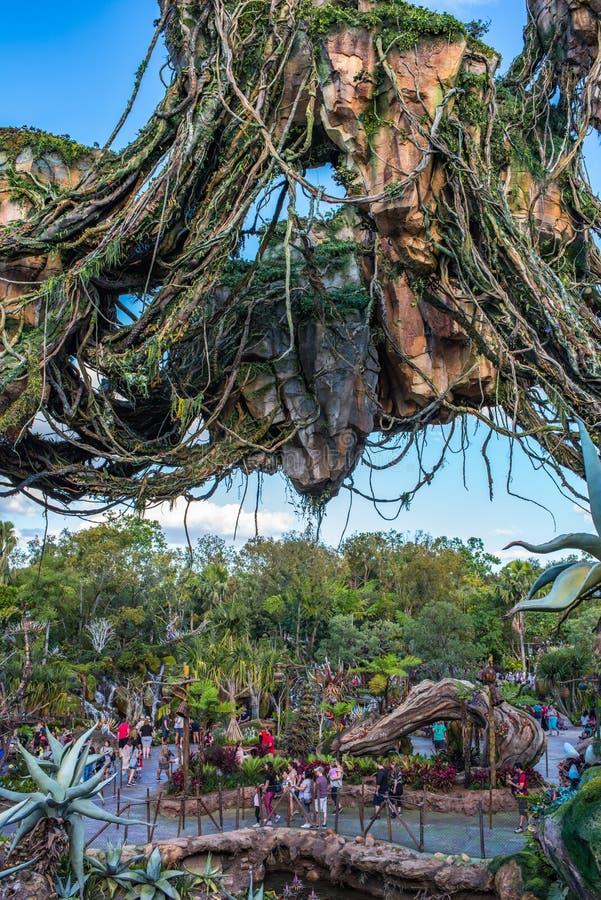 Pandora – The World of Avatar at the Animal Kingdom at Walt Disney World. Orlando, Florida: December 1, 2017: Pandora – The World of Avatar at the royalty free stock photos