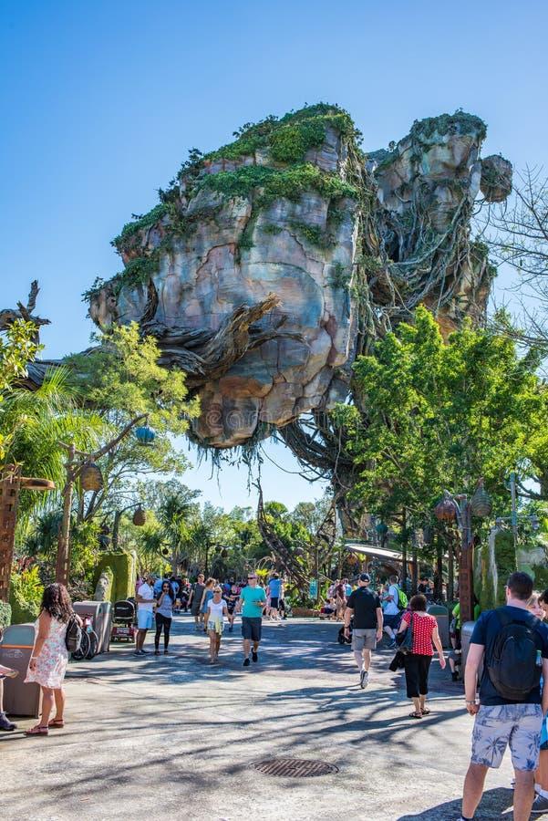 """Pandora †""""världen av avataren på djurriketen på Walt Disney World royaltyfria bilder"""