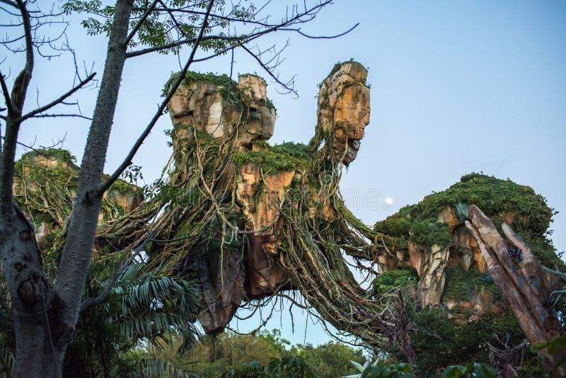 """Pandora †""""världen av avataren på djurriketen på Walt Disney World arkivfoton"""