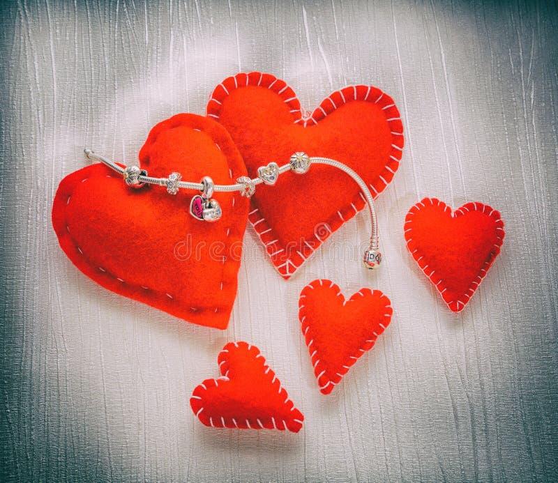 Pandora Bracelet smycken, retro stil royaltyfri bild