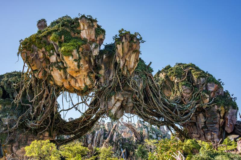 Pandora – de Wereld van Avatar bij het Dierenrijk in Walt Disney World stock afbeeldingen
