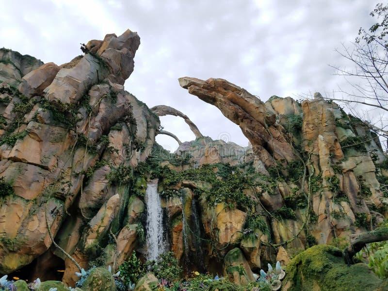 Pandora Scenery do Avatar do filme fotos de stock
