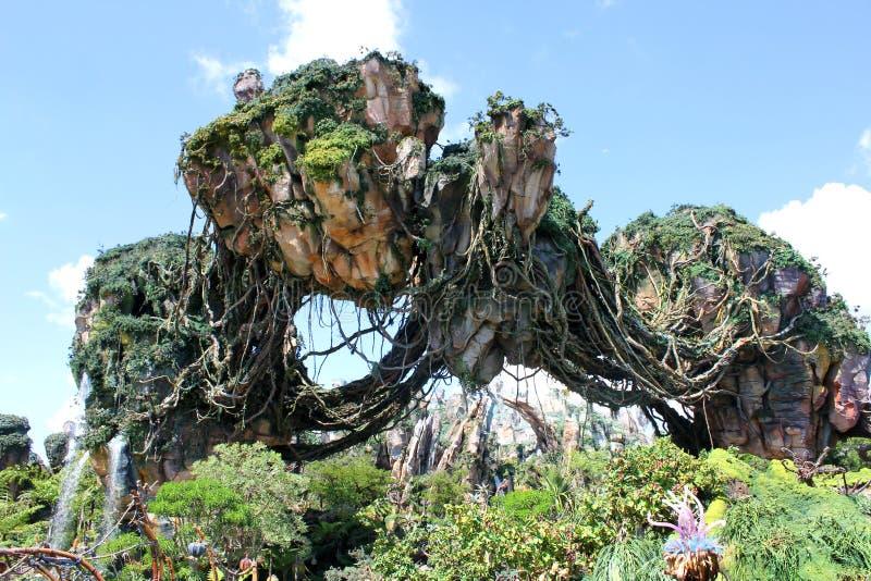 Pandora - världen av avataren på Walt Disney World royaltyfri foto