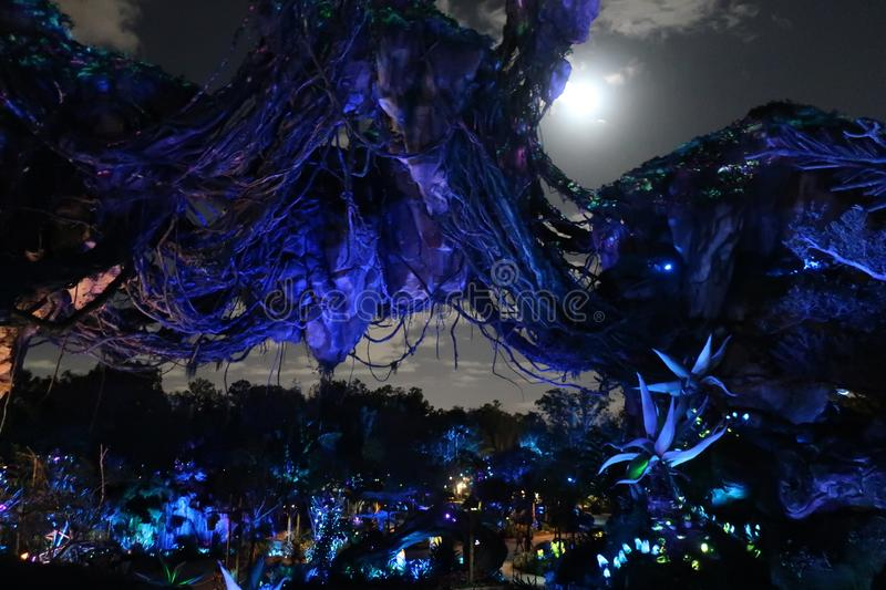 Pandora The World Of Avatar på Walt Disney royaltyfria bilder