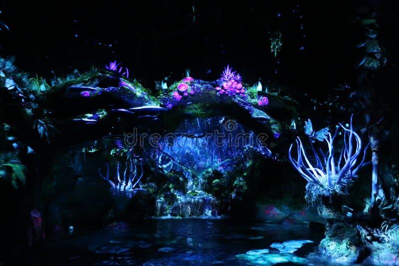 Pandora The World Of Avatar At Walt Disney. The Na`vi River Journey ride in Pandora. The World Of Avatar At Walt Disney royalty free stock photos