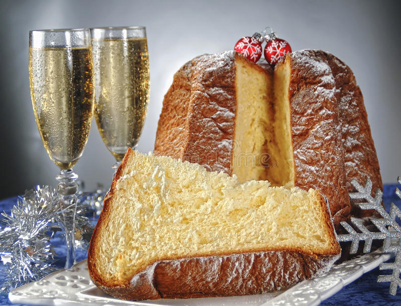 Pandoro Italian Christmas Cake Stock Photo Image Of Glass 43353938