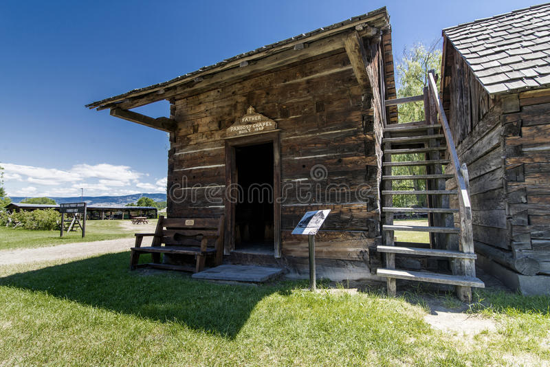 Pandosy mission chapel. The first non-native settlement in the Okanagan Valley was a mission established on this site in 1859 by Father Pandosy. Take a self royalty free stock photo