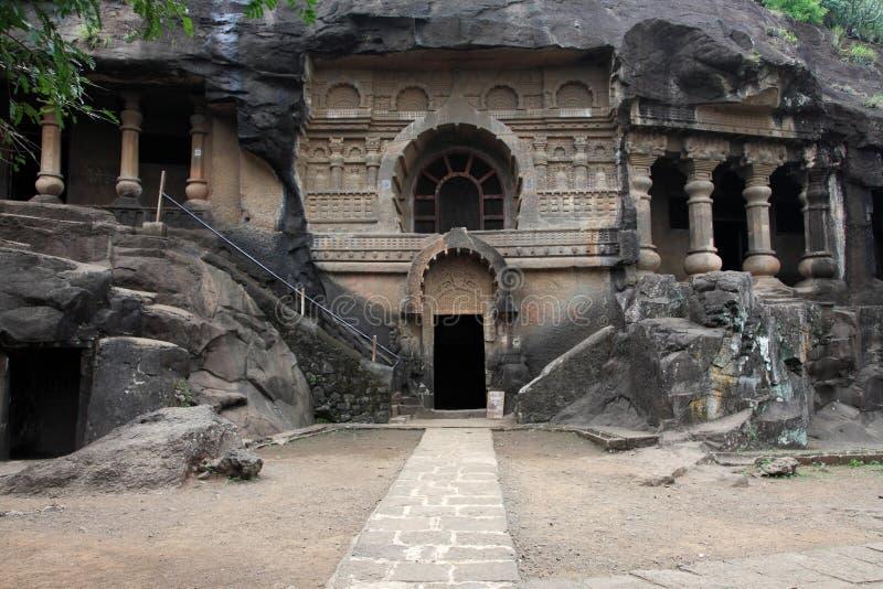 Pandu Leni caves. Situated in Nashik, Maharashtra, India. This 3rd BC caves were built by Hinayana Buddhists stock photo