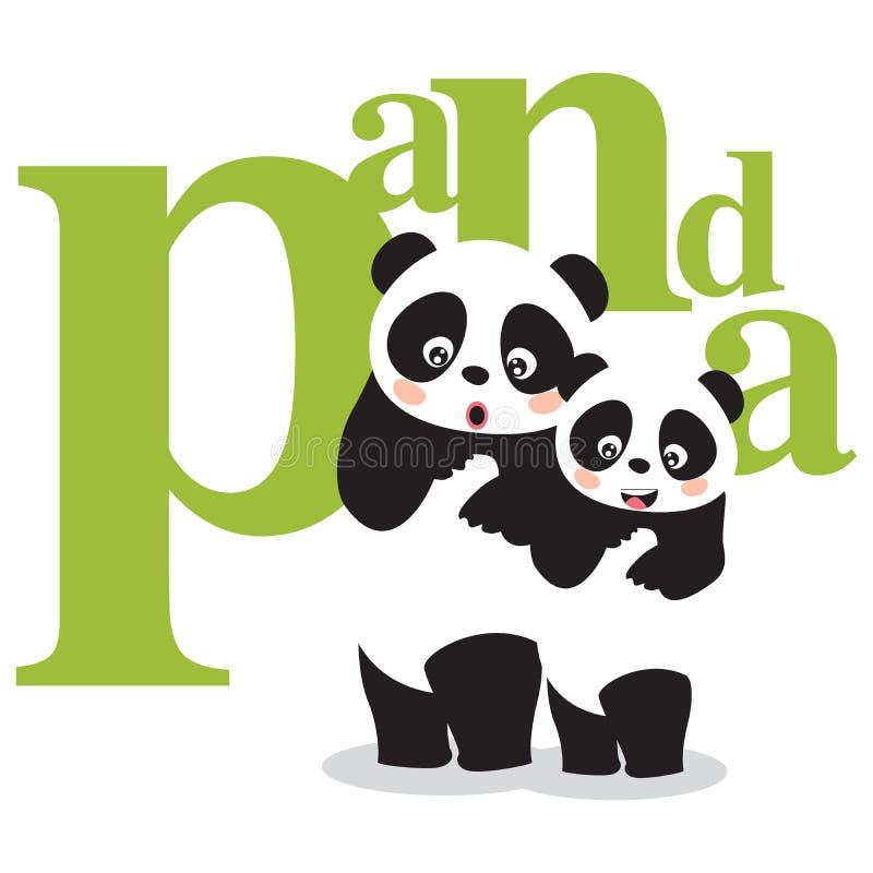 pandy ilustracji