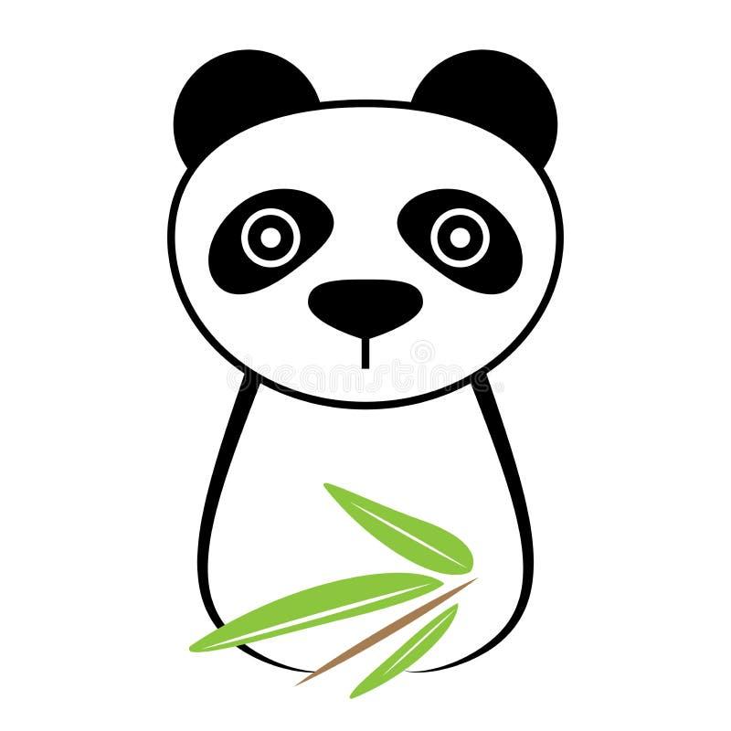 Pandy ikona zdjęcia stock