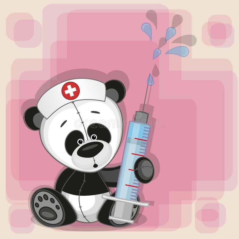 Pandy pielęgniarka royalty ilustracja