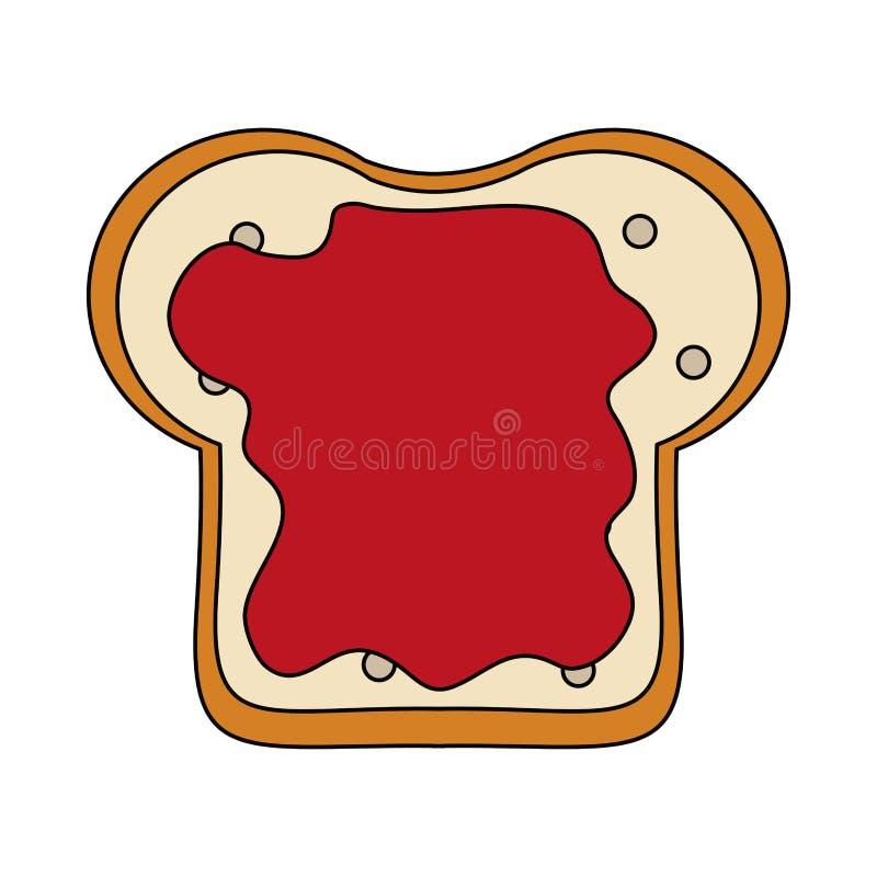 Pane affettato con inceppamento royalty illustrazione gratis