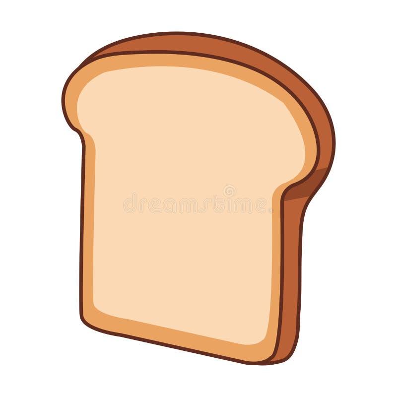 Pane affettato isolato illustrazione di stock