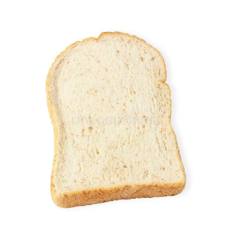Pane affettato isolato su priorità bassa bianca fotografie stock