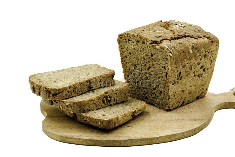 Pane affettato su Ash Board fotografie stock