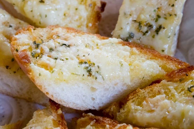 Pane all'aglio fresco fotografia stock