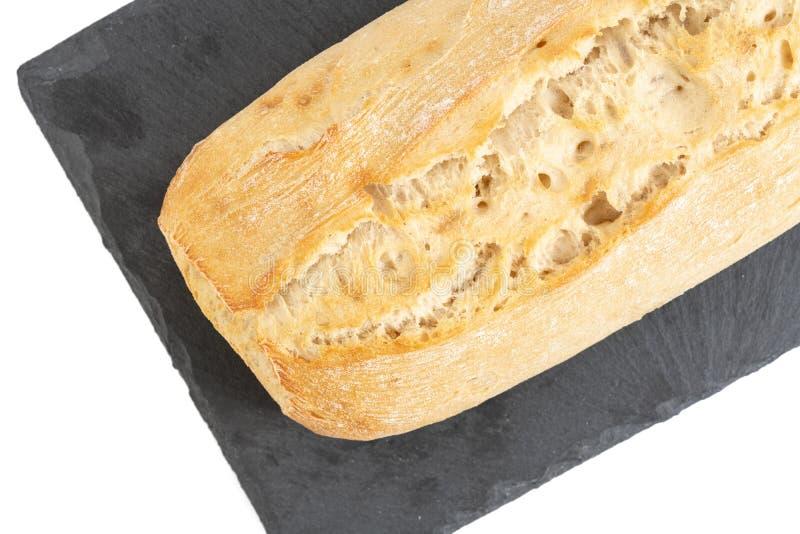 Pane casalingo di Potatoe sul vassoio di pietra nero fotografia stock libera da diritti