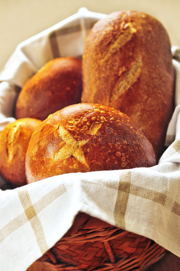 Pane in cestino immagine stock libera da diritti