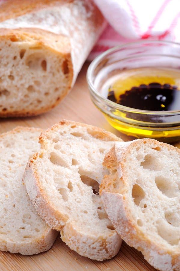 Pane con l'olio di oliva immagini stock
