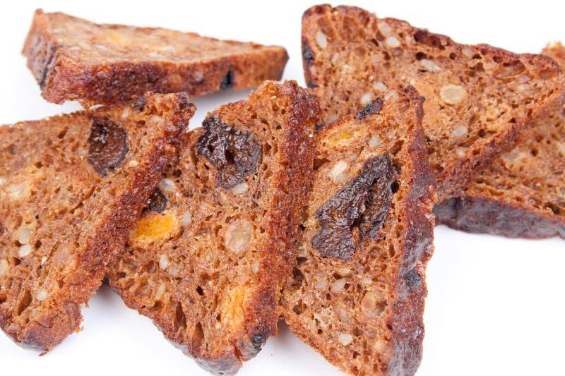 Pane con la frutta asciutta immagini stock libere da diritti