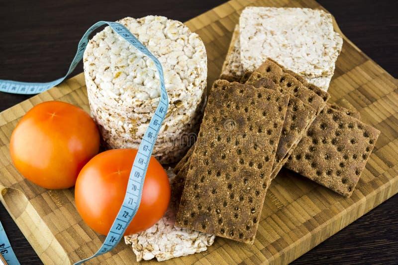 Pane croccante e pomodori fotografia stock libera da diritti