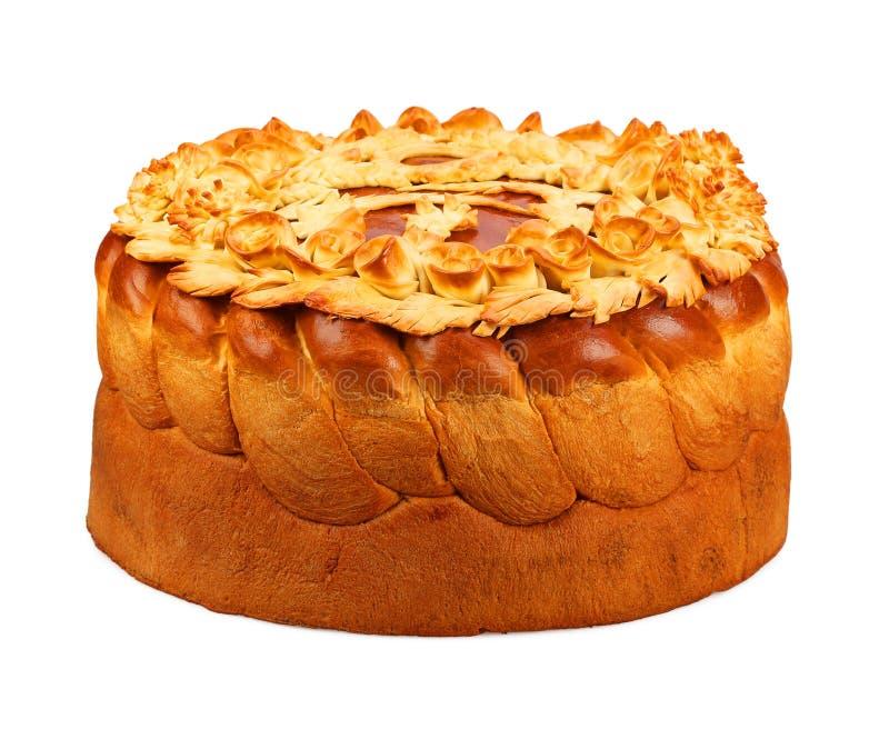 Pane dalla pasta della farina di frumento decorata fotografie stock