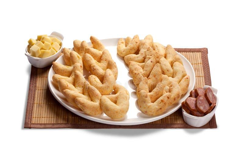 Pane del panino del formaggio o del formaggio e panino calabrese, un alimento popolare di prima colazione e dello spuntino nel Br fotografia stock