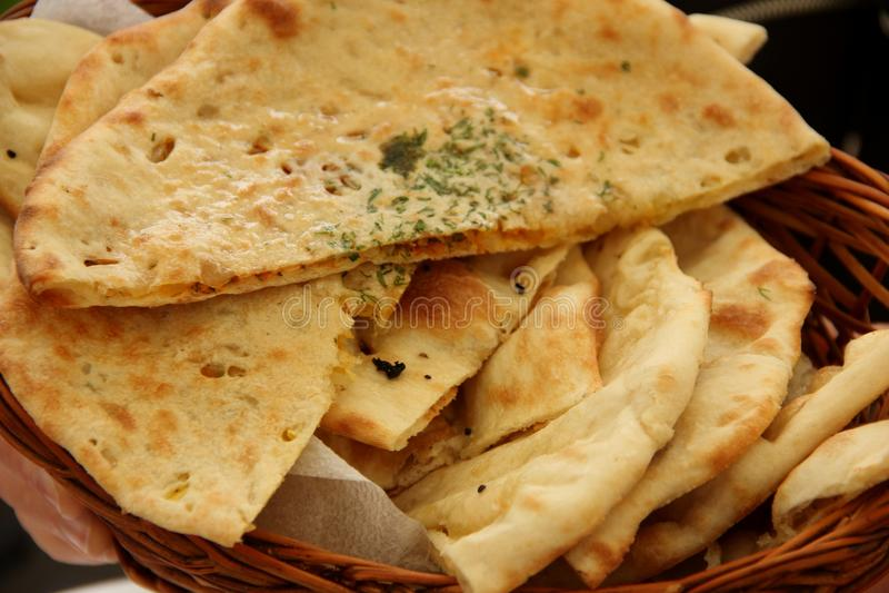 Pane di Naan fotografie stock