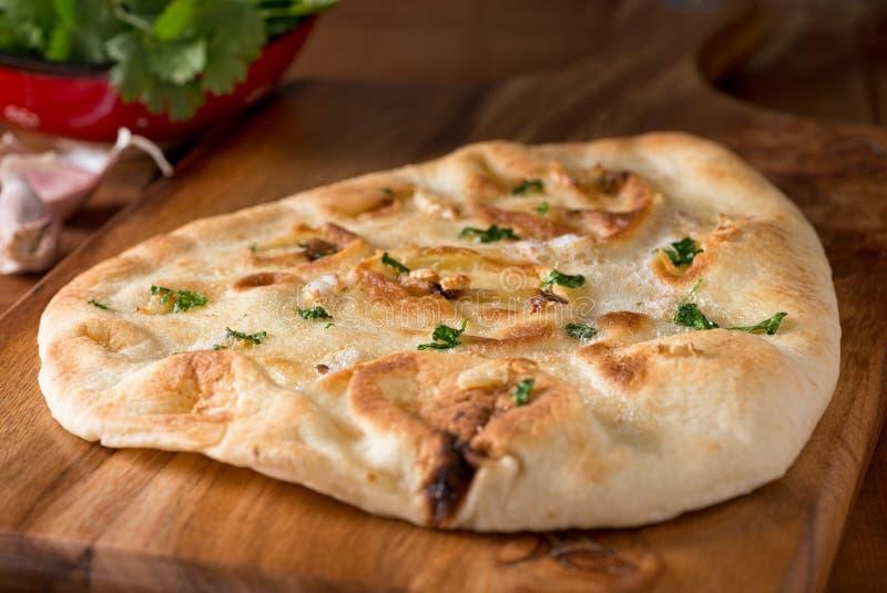 Pane di Naan dell'aglio immagini stock libere da diritti