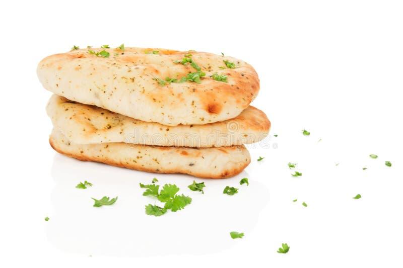 Pane di Naan isolato. fotografia stock libera da diritti