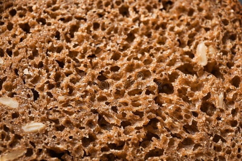 Pane di segale come fondo, primo piano immagine stock