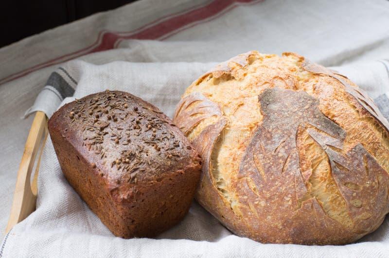 Pane di segale e del grano intero fotografie stock libere da diritti