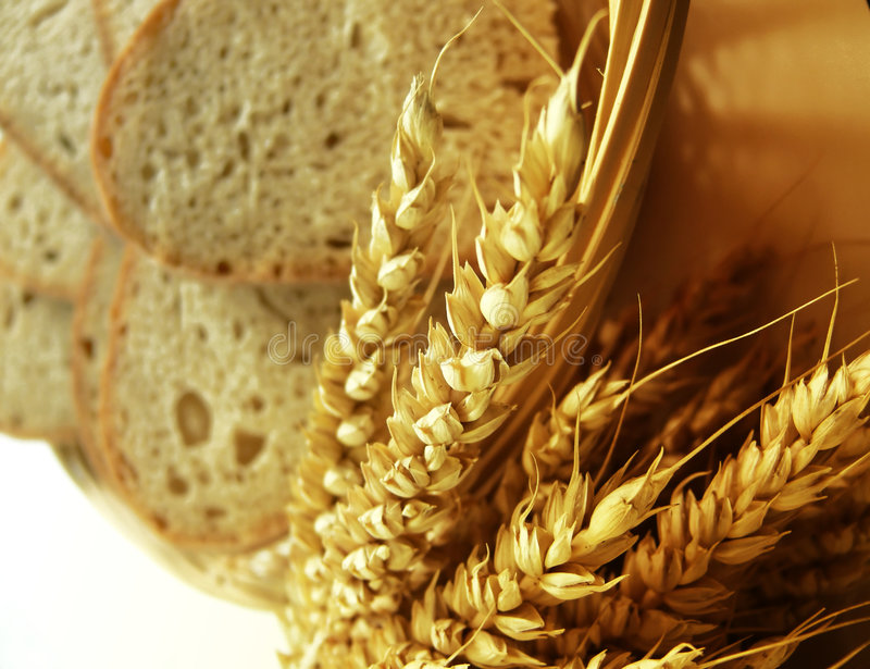Pane e cereale fotografia stock