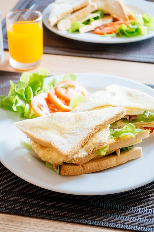 Pane e panini del club immagine stock