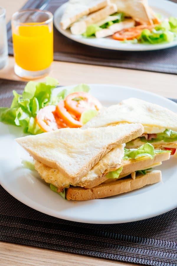 Pane e panini del club immagini stock