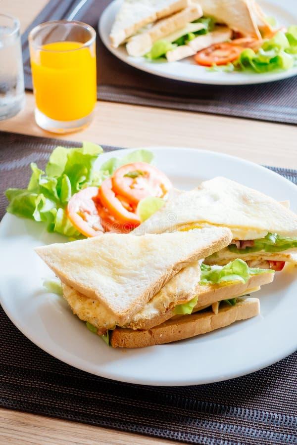 Pane e panini del club fotografia stock libera da diritti