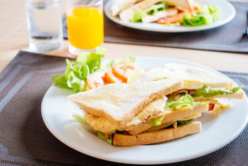 Pane e panini del club fotografia stock
