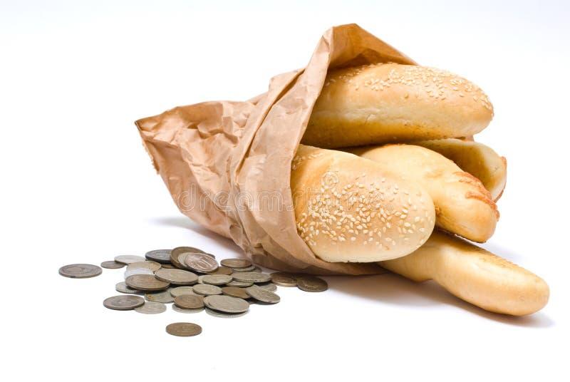 Pane e soldi immagine stock libera da diritti