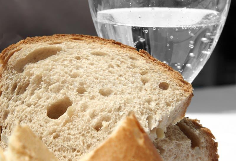 Pane ed acqua fotografie stock libere da diritti