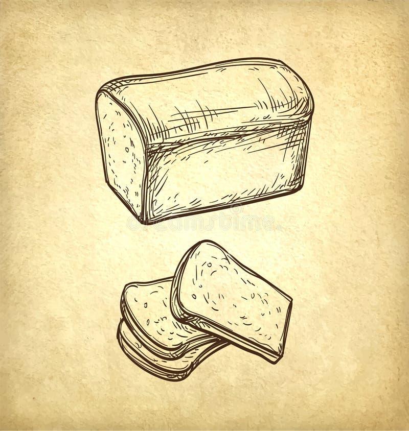 Pane fresco del pane tostato illustrazione di stock