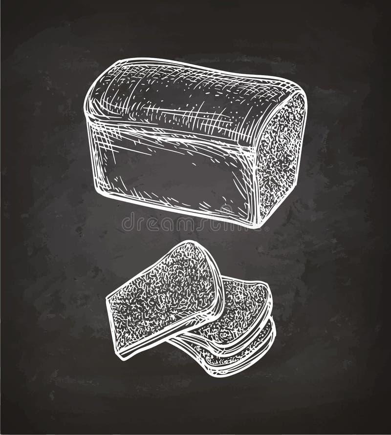 Pane fresco del pane tostato royalty illustrazione gratis
