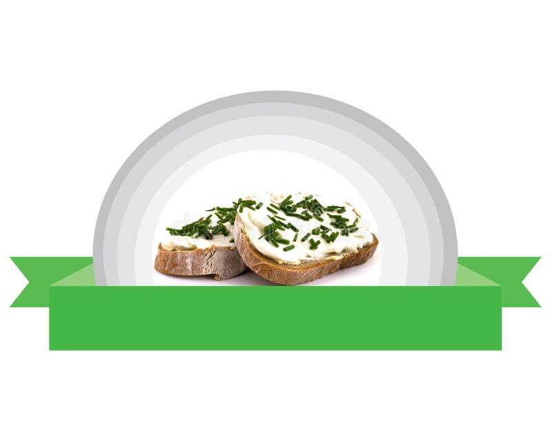 Pane fresco e naturale con la cagliata dell'erba fotografie stock libere da diritti