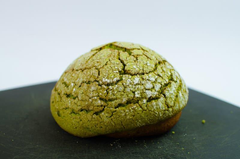 Pane giapponese del melone di matcha fotografia stock libera da diritti