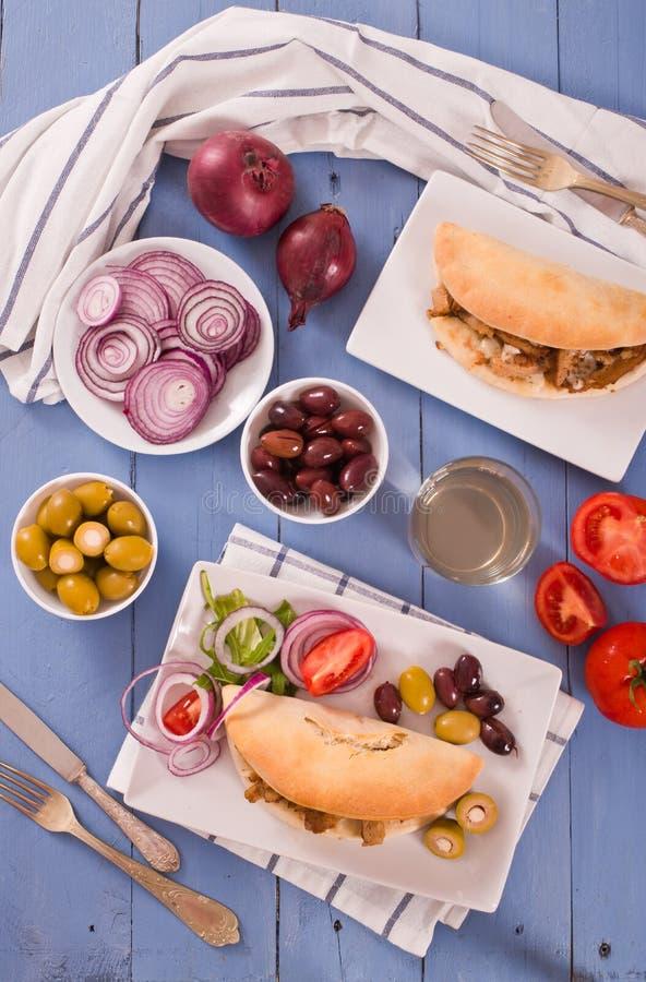 Pane greco della pita fotografie stock