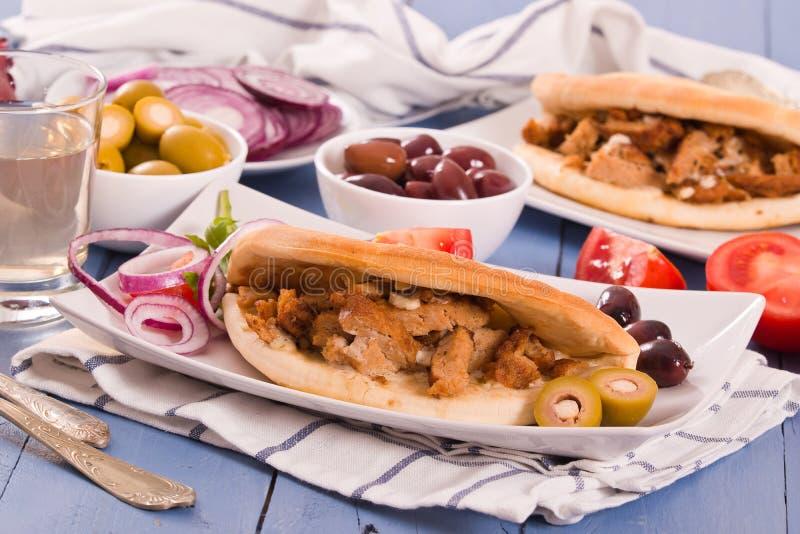 Pane greco della pita immagine stock