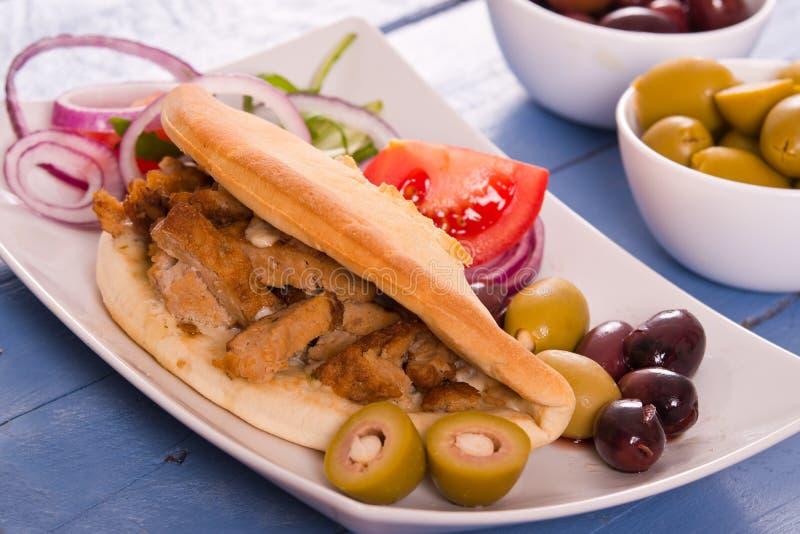 Pane greco della pita fotografia stock libera da diritti
