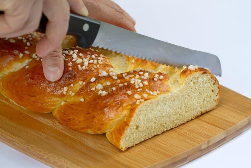 Pane intrecciato dolce fotografia stock